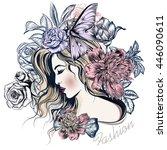 fashion vector illustration...   Shutterstock .eps vector #446090611