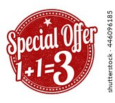 special offer buy two get one... | Shutterstock .eps vector #446096185