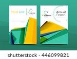 3d geometric shapes design a4... | Shutterstock . vector #446099821