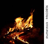 red bright campfire with the... | Shutterstock . vector #44610856
