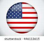 vector image of american flag ... | Shutterstock .eps vector #446113615