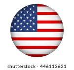 vector image of american flag ... | Shutterstock .eps vector #446113621
