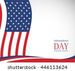 vector image of american flag ... | Shutterstock .eps vector #446113624