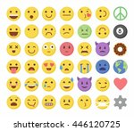 emoticon emoji set icon design... | Shutterstock .eps vector #446120725