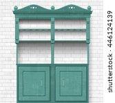 empty vintage cupboard for your ... | Shutterstock .eps vector #446124139