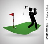 golf concept with icon design ... | Shutterstock .eps vector #446124211
