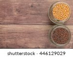 yellow and brown indian mustard ... | Shutterstock . vector #446129029