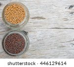 yellow and brown indian mustard ... | Shutterstock . vector #446129614