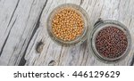 yellow and brown indian mustard ... | Shutterstock . vector #446129629