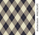 seamless argyle pattern. | Shutterstock .eps vector #446136145
