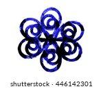 blue flower ornament fantasy...   Shutterstock . vector #446142301