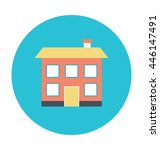 home colored vector illustration | Shutterstock .eps vector #446147491