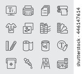 print line icon | Shutterstock .eps vector #446147614