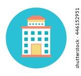 hotel colored vector... | Shutterstock .eps vector #446152951