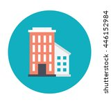 hotel colored vector... | Shutterstock .eps vector #446152984
