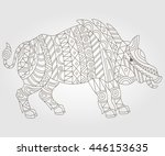 illustration of abstract... | Shutterstock .eps vector #446153635