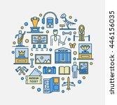 museum round symbol. vector... | Shutterstock .eps vector #446156035