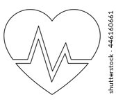 heart and cardiogram icon | Shutterstock .eps vector #446160661