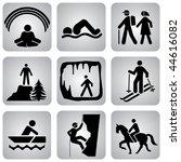 set of vector icons. activities ... | Shutterstock .eps vector #44616082