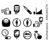 diabetes disease  health icons... | Shutterstock .eps vector #446164174