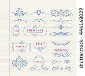 ornate frames elements drawing | Shutterstock .eps vector #446168029