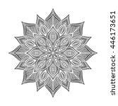 mandala. round ornament pattern. | Shutterstock .eps vector #446173651