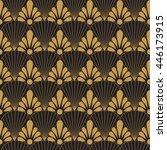 art deco gold on black | Shutterstock .eps vector #446173915
