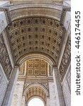 arc de triumphe stone vault... | Shutterstock . vector #446174455