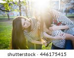 three similar to each other... | Shutterstock . vector #446175415
