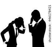 sad and worried business people | Shutterstock .eps vector #446178421