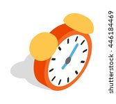 alarm clock icon in isometric... | Shutterstock .eps vector #446184469