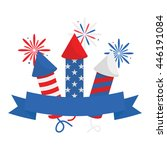 fourth of july firecracker with ...   Shutterstock .eps vector #446191084