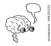 freehand drawn speech bubble... | Shutterstock .eps vector #446191231