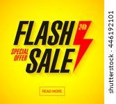 flash sale banner design... | Shutterstock .eps vector #446192101