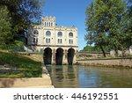castle like hydroelectric power ... | Shutterstock . vector #446192551