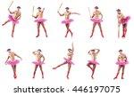 man wearing ballet tutu... | Shutterstock . vector #446197075