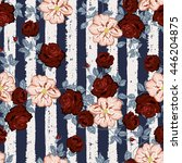 seamless floral pattern with... | Shutterstock .eps vector #446204875
