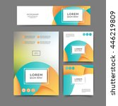 set of color abstract brochure... | Shutterstock .eps vector #446219809