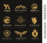 logo collection. set of brand... | Shutterstock .eps vector #446225251