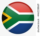 south africa flag button | Shutterstock .eps vector #446228869