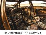 Inside Of Abandoned Car