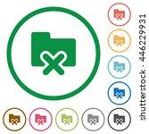 set of cancel folder color...   Shutterstock .eps vector #446229931