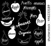 vector fruit logo. fruit and...   Shutterstock .eps vector #446233189