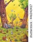 Children Reading With Animals