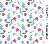 floral seamless pattern in... | Shutterstock . vector #446255371