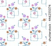 floral seamless pattern in... | Shutterstock . vector #446255374