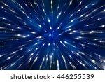 abstract blue fractal... | Shutterstock . vector #446255539
