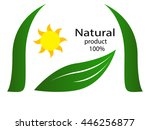 natural product logo  | Shutterstock .eps vector #446256877