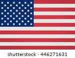 american flag. | Shutterstock . vector #446271631