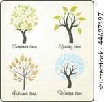 season tree   Shutterstock .eps vector #44627197